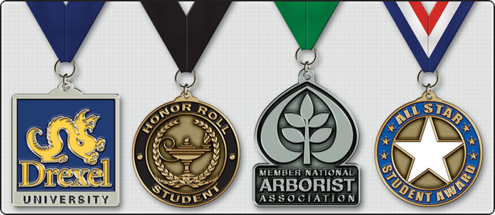 Custom Award Ribbon Medals Examples
